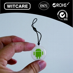 Universal NFC NTAG203 Sticker Tag Android Robot Printed