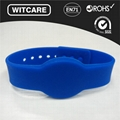 Adjustable13.56MHz Waterproof RFID Wristband for Access Control  3