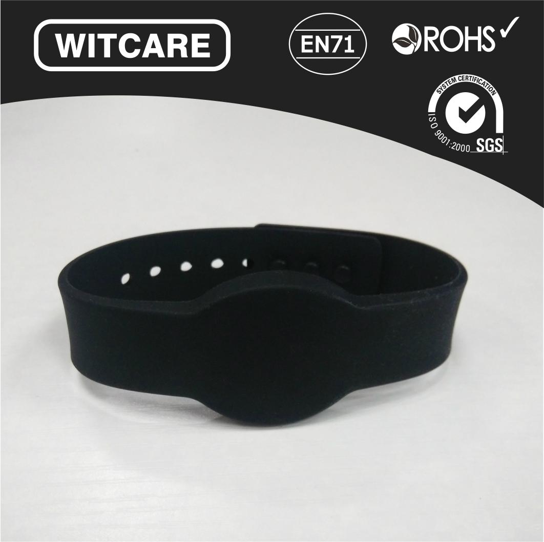 Adjustable13.56MHz Waterproof RFID Wristband for Access Control  2