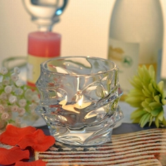 Decorations glass candle holder