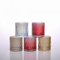 machine pressed glass candle holder wholesale