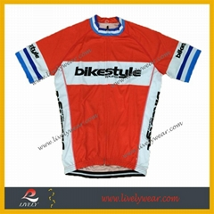 100% Polyester Sublimated Custom Logo Cycling Jersey