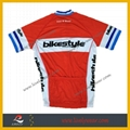 100% Polyester Sublimated Custom Logo Cycling Jersey 2