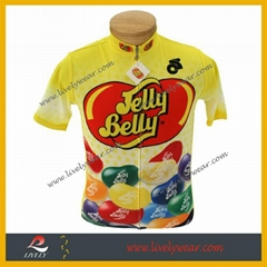 100% Polyester Sublimated Custom Logo Cycling Jerseys