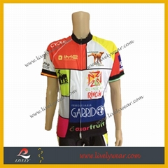 100% Polyester Custom Logo Cycling Shirt