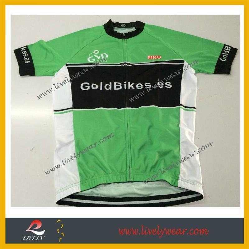 Sublimated Custom-made Wholesale Cycling Shirts 1