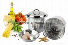 Nice design Stainless steel Pasta Pot with strainer