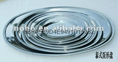 stainless steel egg shaped plate/Thai-Style Oval Plate/egg tray