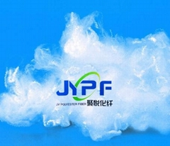 1.5D Polyester staple fiber Raw White( cotton type recycled)