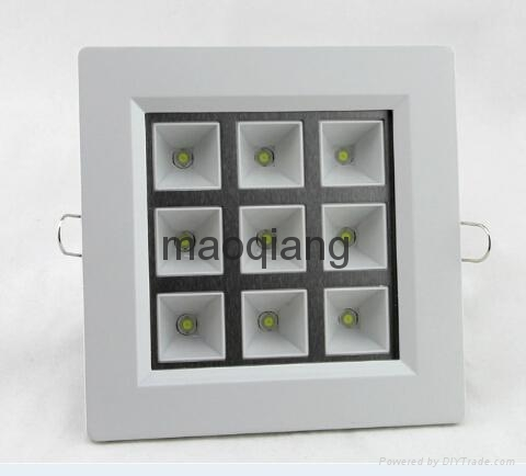 Square style LED Grille Light Cool Warm white 3