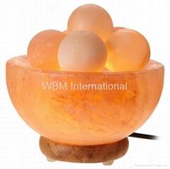 WBM-1328 Fire Bowl Salt Lamp With Massage Balls