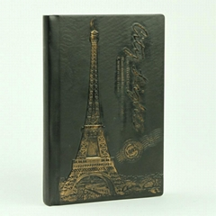 Europe retro style PU embossing diary notebook used for gift giving can be OEM