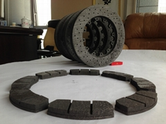 carbon-carbon brakes and carbon-ceramic brakes