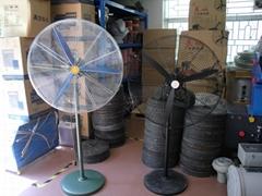工业牛角扇工业喷雾电风扇工厂车 间壁挂落地移动升降