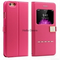 Smart Front Window S-View Case PU Leather Flip Case for iphone 6 4