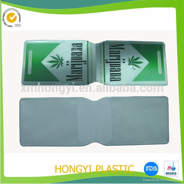 Clear PVC Holders for visitor passes - 100 x 83mm 2