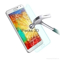 Tempered glass screen protector for Sam note3 4