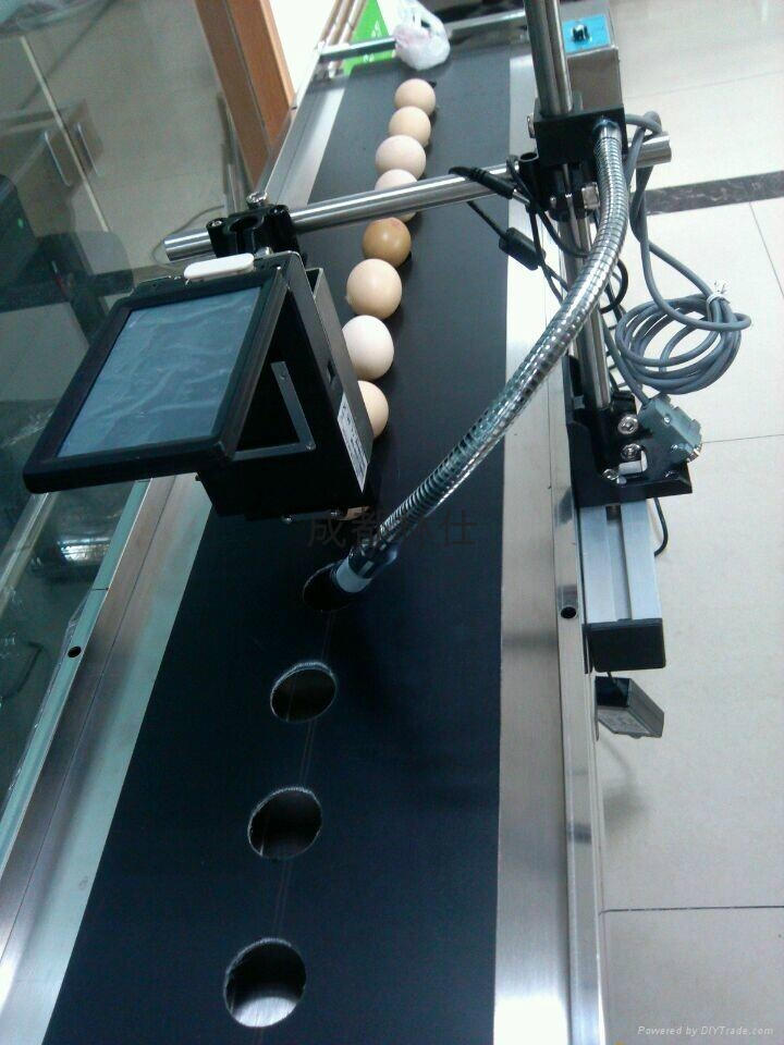 成都林仕雞蛋高清晰噴碼機 1