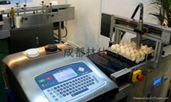 成都林仕鸡蛋喷码蛋托机