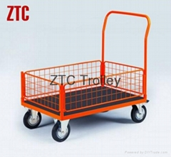 Industry flat wire hand truck with wheels