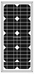 太阳能单晶片20W电池板