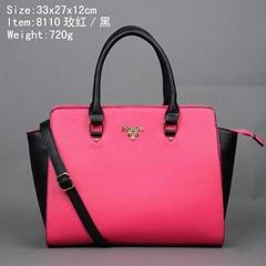 PRADA handbags Grainy Leather Tote Bag