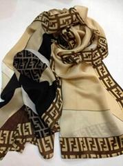 High quality Silk scarves / scarf / shawl hot sale fendi scarf