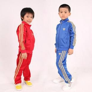 red blue color boys tracksuits sports suits
