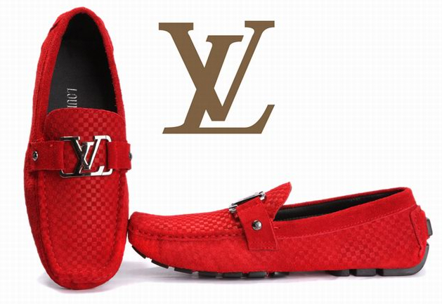 Louis Vuitton loafers women shoe red LV shoes