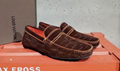 brown shoes top quality loafers real leather shoes