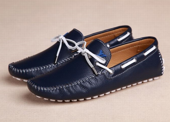blue men shoes men loafers leather sneakers