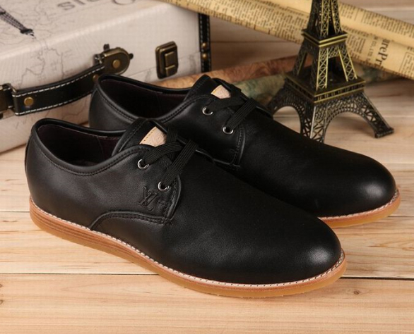black shoes men leather loafers shoes