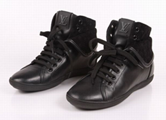 hi quality LV shoes Louis Vuitton real leather women shoes free boots