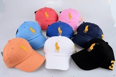 Wholesale free shipping discount Polo Caps good quality hats summer caps