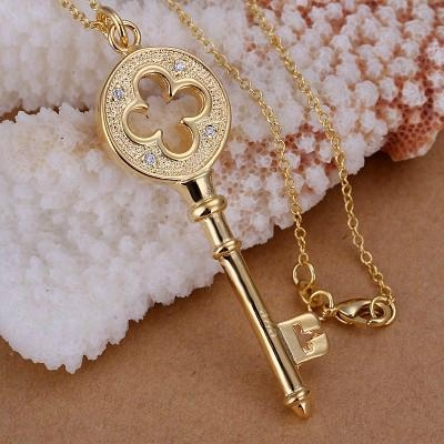 2015 classical keys necklaces tiffany jewelries
