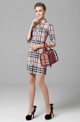 New arrival Women burberry dresses fashion dress