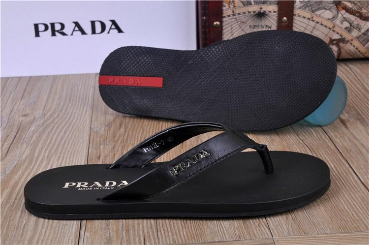 black shoes prada slippers 3 colors