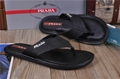 leather women slippers black flip flops