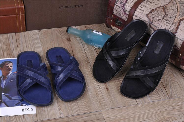 High quality slippers  loafers prada Man flip flops women slippers 11
