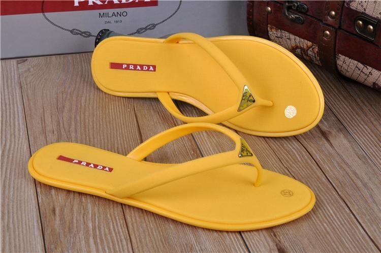 High quality slippers  loafers prada Man flip flops women slippers 13