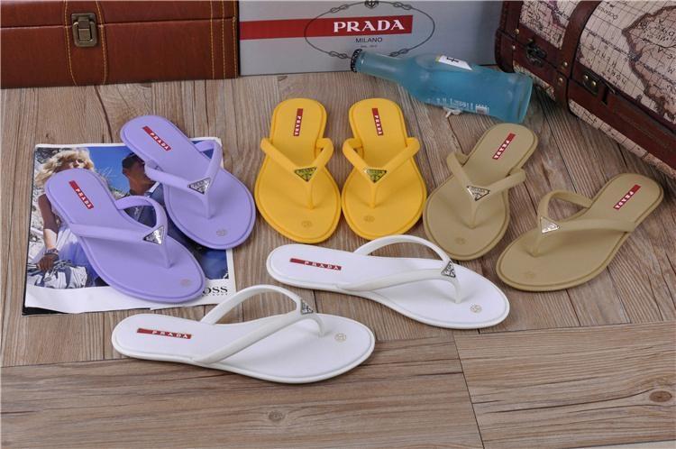 High quality slippers  loafers prada Man flip flops women slippers 19