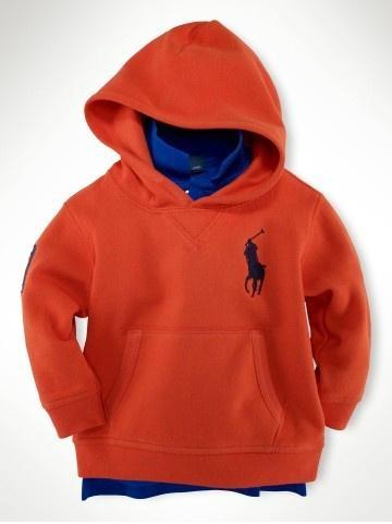 orange polo kid coats hoodies