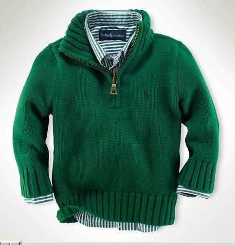 polo children sweaters fashion green hoodies