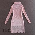 pink lace dress fashion dress high quality