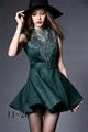green top sale women dresses