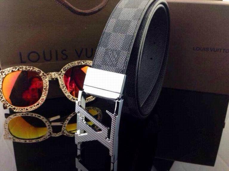 Lv belts 1:1 belt men real lether LV belt