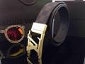 Gold buckle Damier belts LV belts
