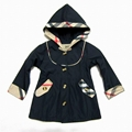 2015  top sale kid hoodies burberry hoody warm outwears children coats