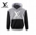 grey coat LV hoody
