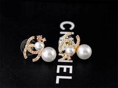2015 new style Earrings pearl golden earrings discount eardropsc  hanel jewerlys